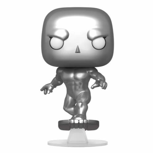 Silver Surfer Funko Pop Marvel Fantastic Four Action Figure Perspective: front