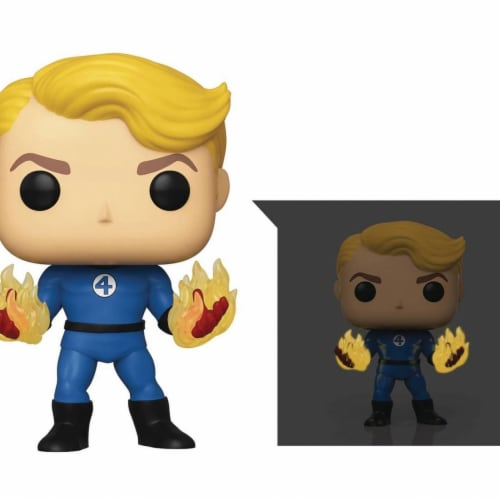 Funko Pop Marvel Fantastic Four - Human Torch Specialty Series Perspective: front