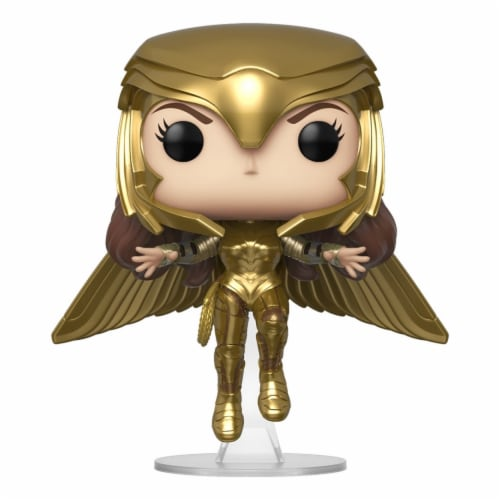 Wonder Woman 1984 Gold Flying Metallic Funko Pop Figure Perspective: front