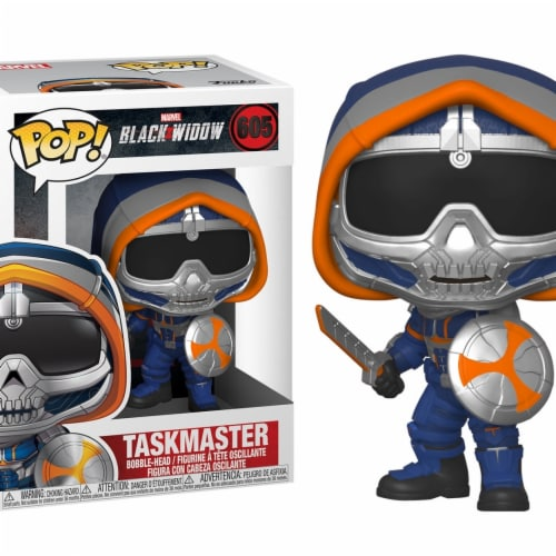Marvel Black Widow Movie Taskmaster with Shield Funko Pop Perspective: front