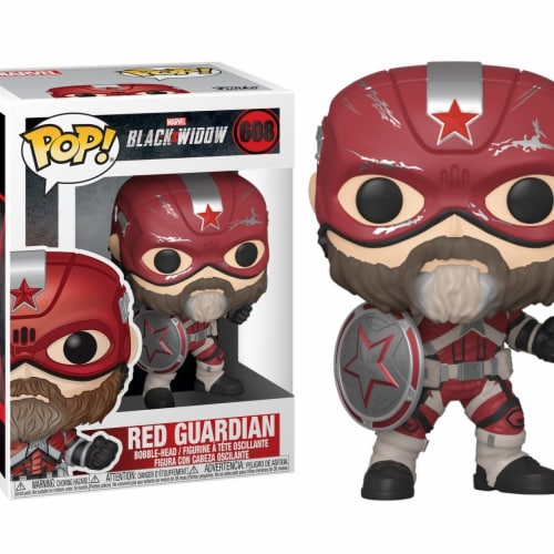 Marvel Black Widow Movie Red Guardian Funko Pop Perspective: front