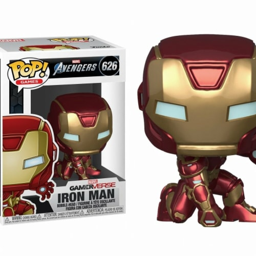 Iron Man 805749 Marvel Avengers Game Iron Man Stark Tech Suit Funko Pop Perspective: front