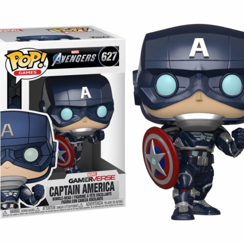 Marvel Avengers Game Captain America Stark Tech Suit Funko Pop Perspective: front