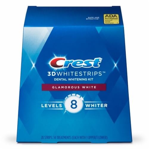 Crest 3D Whitestrips Glamorous White Teeth Whitening Kit 14 Treatments Perspective: front