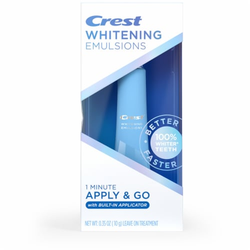 Crest Whitening Emulsions On-the-Go Teeth Whitening Treatment Perspective: front