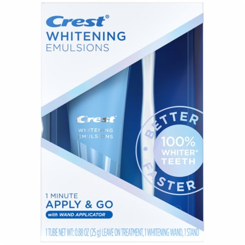 Crest Whitening Emulsions Leave-on Teeth Whitening Treatment with Whitening Wand Perspective: front