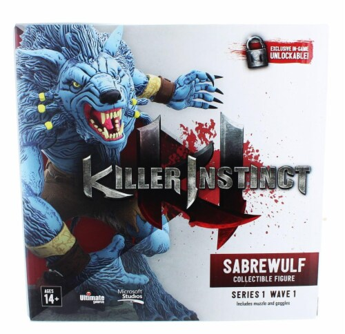"Killer Instinct Series 1 6"" Collectible Figure: Sabrewulf Perspective: front"