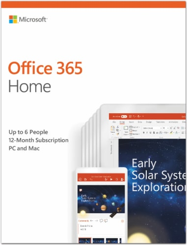 Microsoft Office 365 Home Software Key Card Perspective: front