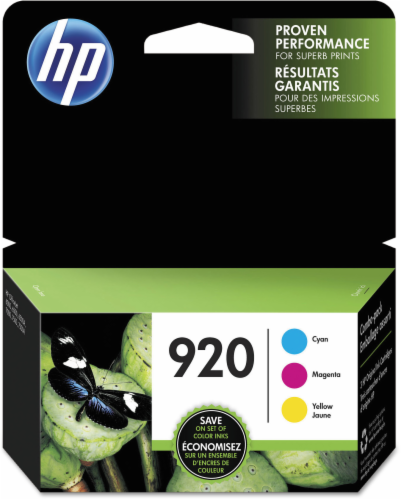 HP 920 Ink Cartridges - Cyan/Magenta/Yellow Perspective: front