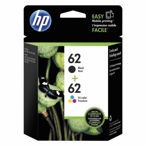 HP 62 Original Ink Cartridges - Black/Tri-Color Perspective: front