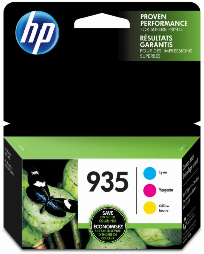 HP 935 Combo Colors Ink Cartridges - Cyan/Magenta/Yellow Perspective: front