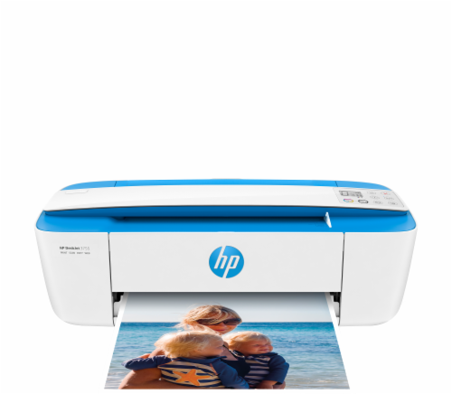HP DeskJet 3755 All-in-One Printer - White/Blue Perspective: front
