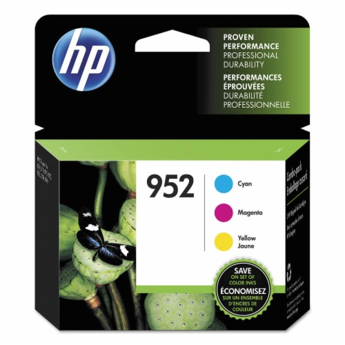 HP 952 Original Ink Cartridge Combo Pack - Cyan/Magenta/Yellow Perspective: front