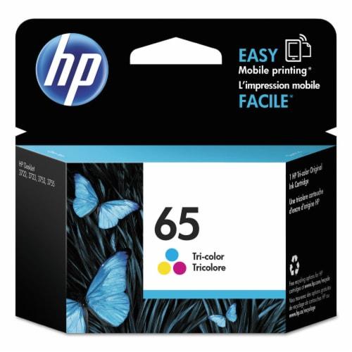 HP 65 Original Tri-Color Ink Cartridge Perspective: front