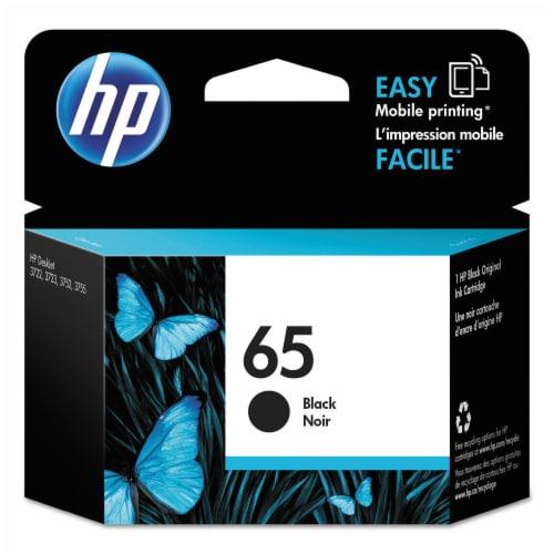 HP 65 Original Ink Cartridge - Black Perspective: front