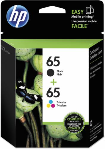 HP 65 Ink Cartridges - Black/Tri-Color Perspective: front