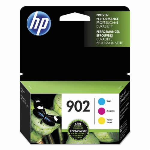 HP 902 Original Ink Cartridges Combo Pack - Cyan/Magenta/Yellow Perspective: front