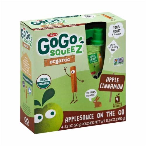 GoGo Squeeze Applesauce - Apple cinnamon - Case of 12 - 3.2 oz. Perspective: front