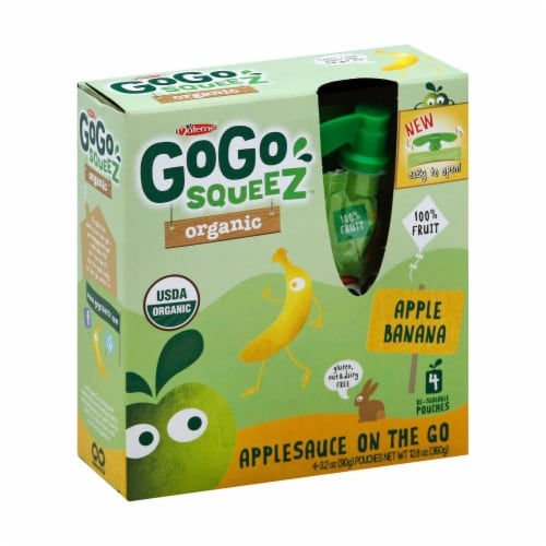 GoGo Squeeze Applesauce - Apple banana - Case of 12 - 3.2 oz. Perspective: front