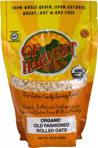 GF Harvest  Organic Old Fashioned Rolled Oats Perspective: front