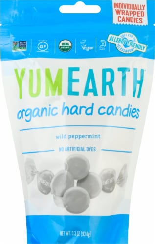 Yum Earth Organics Wild Peppermint Hard Candies Perspective: front