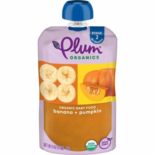 Plum Organics Banana & Pumpkin Stage 2 Baby Food Perspective: front