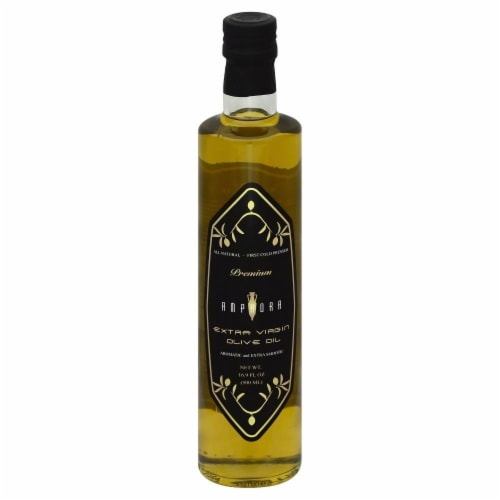 Amphora Organic Extra Virgin Premium Olive Oil Perspective: front