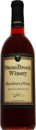 Stonebrook Winery Blackberry Wine Perspective: front
