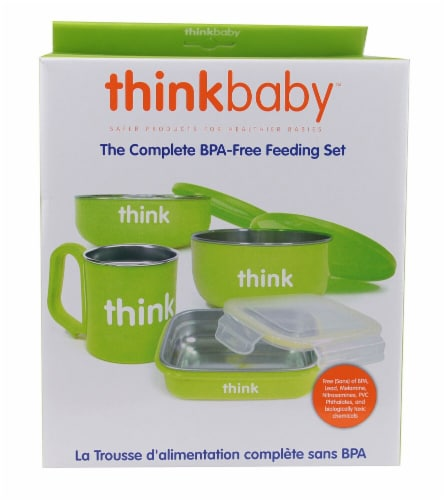 Thinkbaby  Complete BPA Free Feeding Set Green Perspective: front