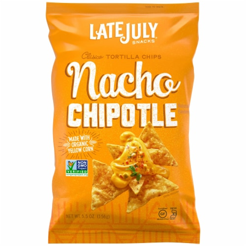 Late July Nacho Chipotle Tortilla Chips Perspective: front