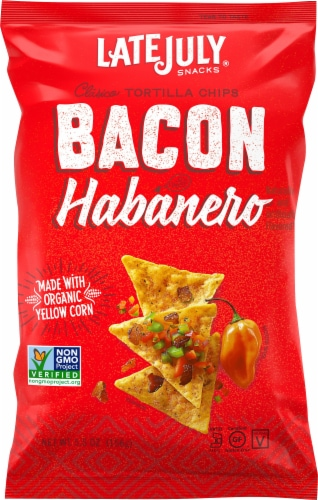 Late July Bacon Habanero Clasico Tortilla Chips Perspective: front