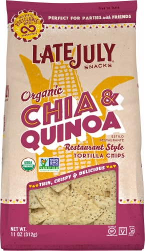 Late July Organic Chia & Quinoa Restaurant Style Tortilla Chips Perspective: front