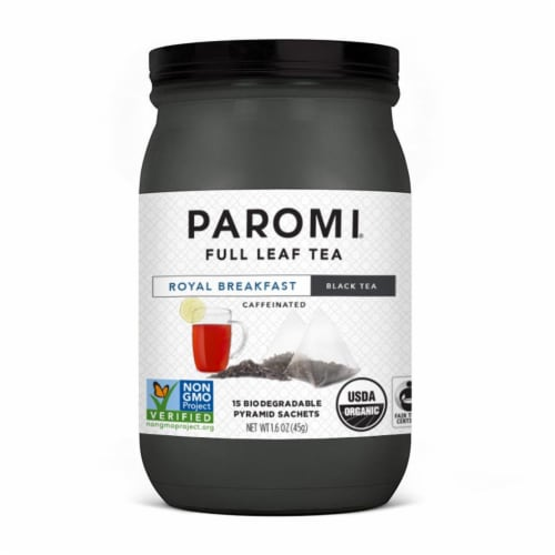 Paromi Royal Breakfast Black Tea Pyramid Sachets Perspective: front
