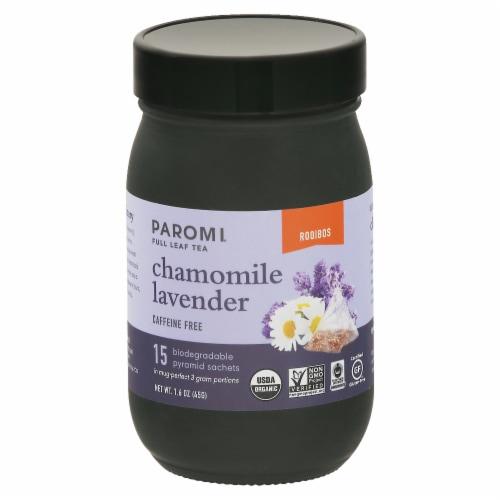Paromi Chamomile Lavender Rooibos Full Leaf Tea Sachets Perspective: front