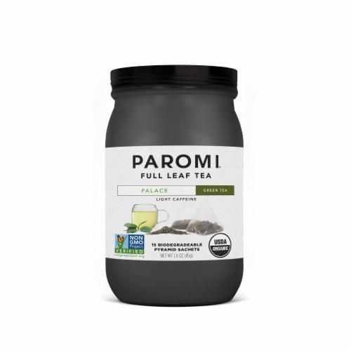 Paromi Organic Palace Green Tea Sachets Perspective: front
