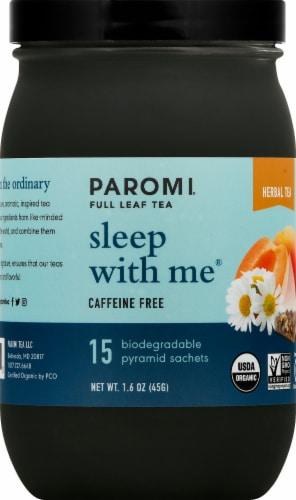 Paromi Sleep wiht Me Herbal Tea Full Leaf Tea Sachets Perspective: front