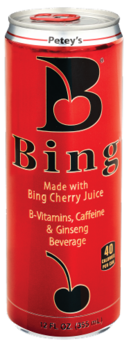 Bing Cherry Juice Beverage Perspective: front