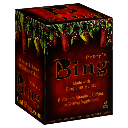Bing Energy Drink Cherry Perspective: front