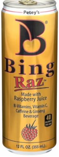 Bing Raz Raspberry Juice Beverage Perspective: front