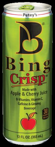 Bing Crisp Apple & Cherry Juice Beverage Perspective: front