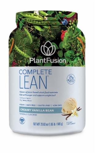 PlantFusion Complete Lean Creamy Vanilla Bean Protein Powder Perspective: front
