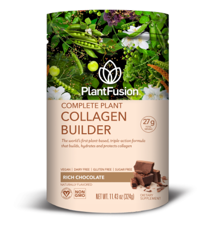 PlantFusion Rich Chocolate Complete Plant Collagen Builder Perspective: front