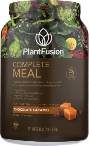 PlantFusion Complete Meal Chocolate Caramel Protein Powder Perspective: front