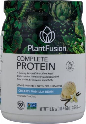 PlantFusion Vanilla Bean Plant Protein Powder Perspective: front