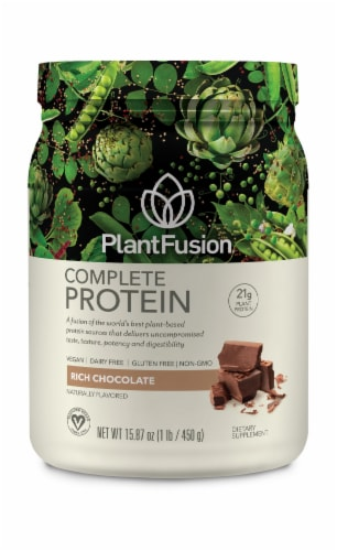 PlantFusion Chocolate Plant Protein Powder Perspective: front