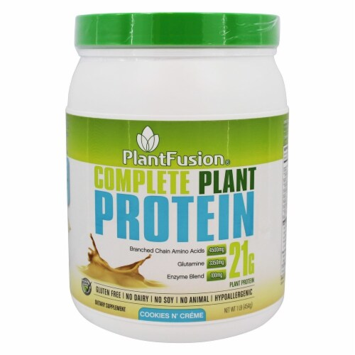 PlantFusion Complete Plant Protein Cookies N' Creme, 1 lb. Perspective: front