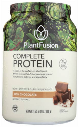 PlantFusion Complete Protein Rich Chocolate Protein Powder Perspective: front