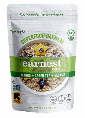 Earnest Eats  Superfood Oatmeal Gluten Free   Mango Green Tea Sesame Perspective: front