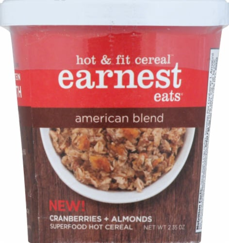 Earnest Eats Hot And Fit Cereal Cup American Blend Perspective: front