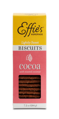 Effie's Cocoa Biscuits with Toasted Coconut Perspective: front